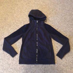 Lululemon Dark Violet zipup logo hoodie sweatshirt